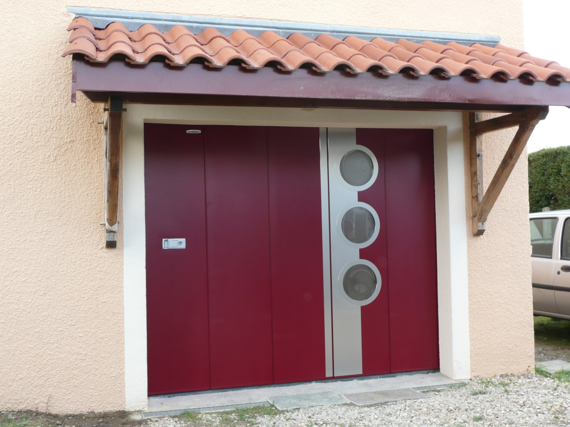 Installateur hormann de portes de garages coulissantes laterales isol es automatiques acces for Porte de garage coulissante motorisee